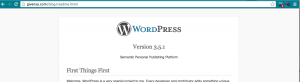 How check wordpress version