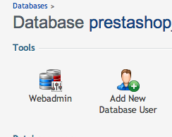 prestashop database for backup